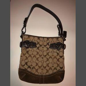 Classic Hobo Shoulder tan Coach bag - zip